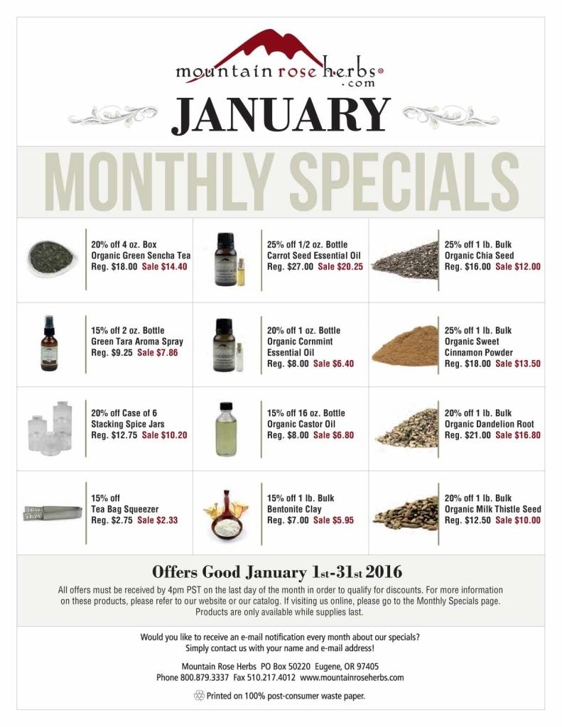 January-specials