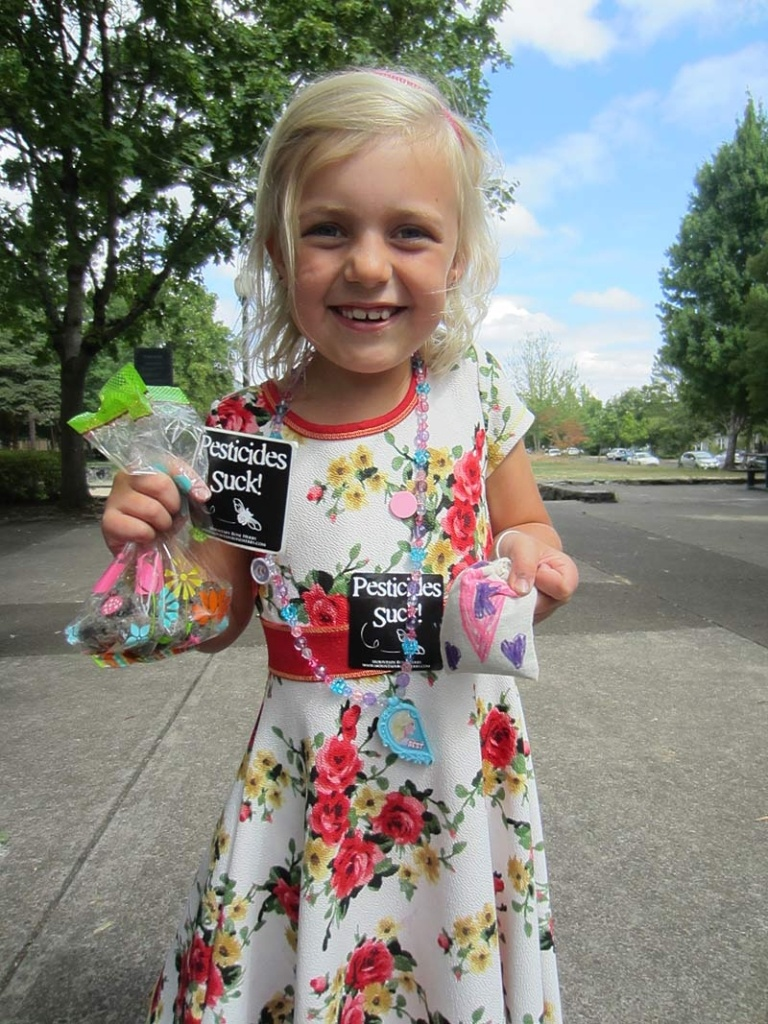 Kiddo with handmade Seed Bombs