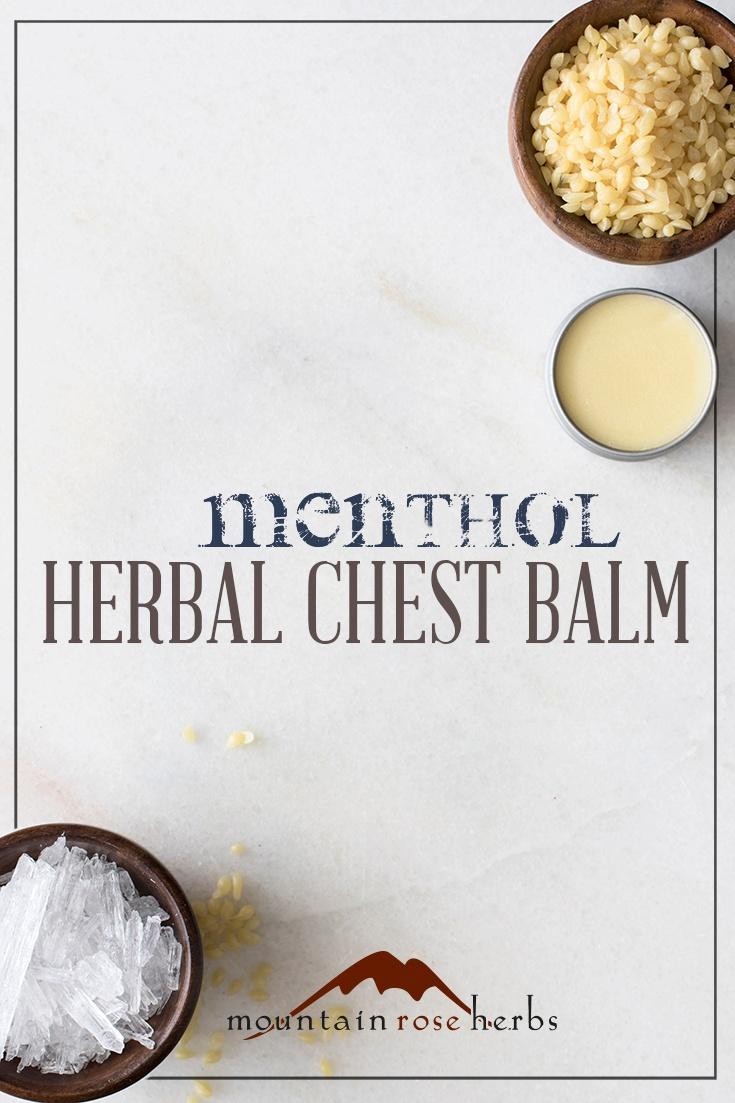Menthol Chest Balm Recipe