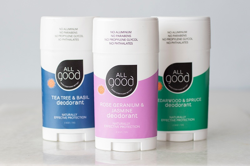 Three All Good Deodorant varieties