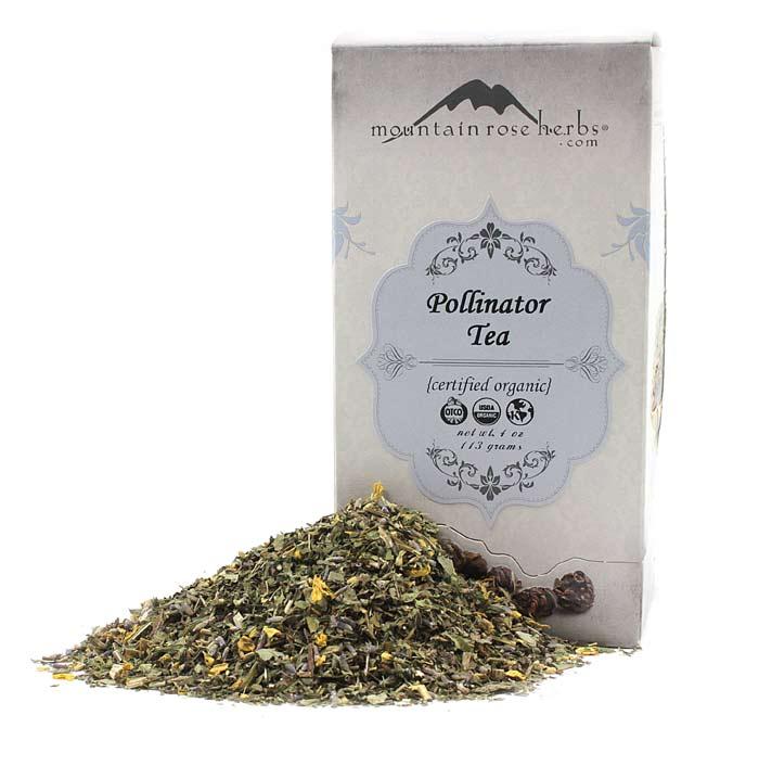Organic Pollinator Tea by Mountain Rose Herbs With Box
