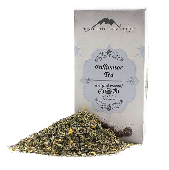 Loose Leaf Pollinator Tea by Mountain Rose Herbs With Box