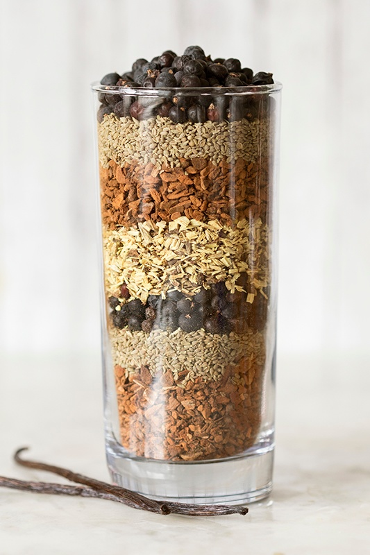 Layered Herbs for Making Homemade Rootbeer