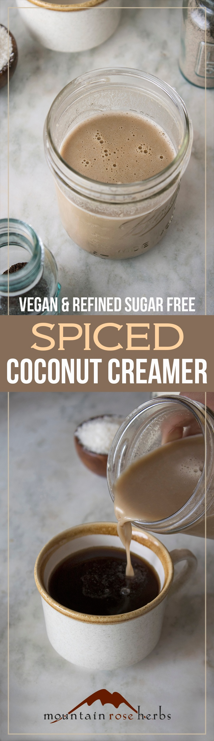 Coconut Creamer Recipe by Mountain Rose Herbs