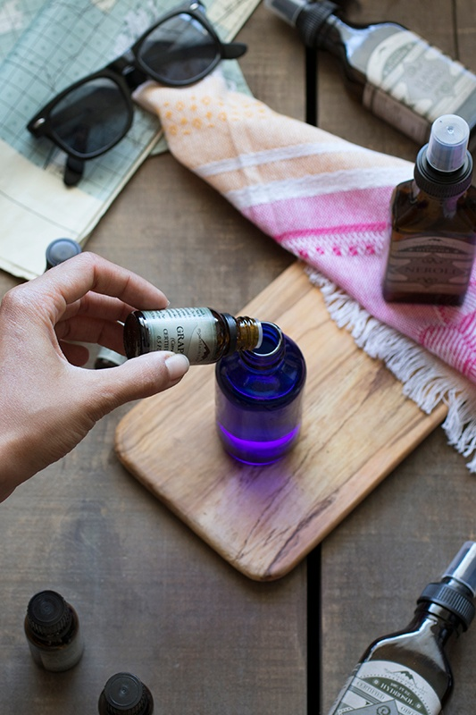 Making body spray with essential oils and hydrosols