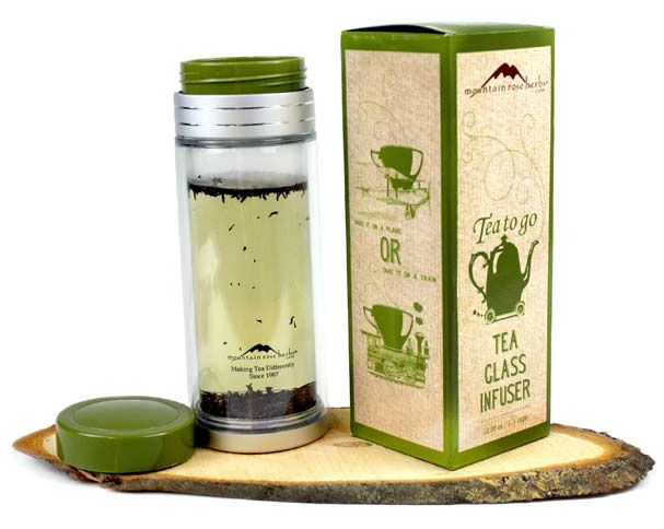 Tea-to-Go Glass Infuser!