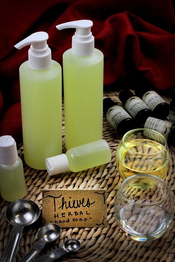 DIY: Four Thieves Inspired Liquid Hand Soap