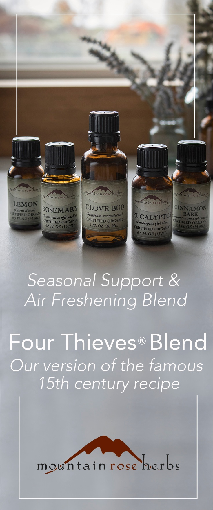 Thieves Oil Recipe by Mountain Rose Herbs