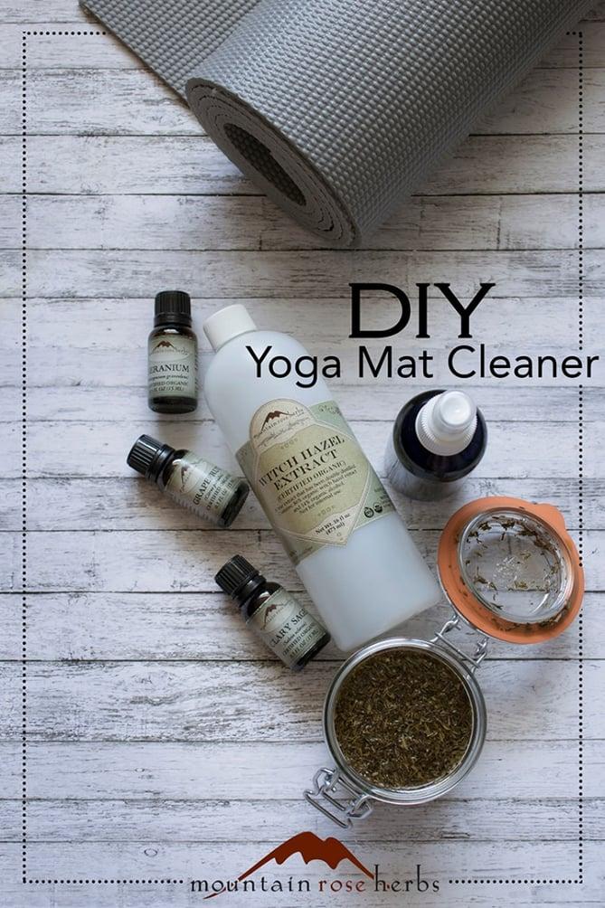 DIY Yoga Mat Cleaner Sprays with Witch Hazel