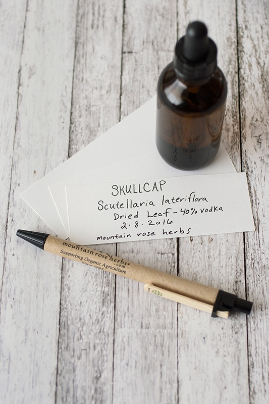 DIY labels for homemade tinctures