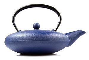 Blue Cast Iron Tea Pot from Mountain Rose Herbs