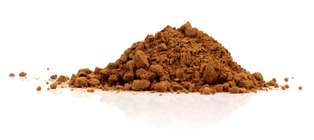 cacao powder mound