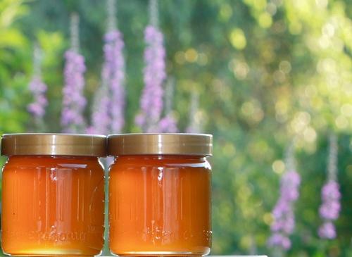 Herbal honey in a window sill