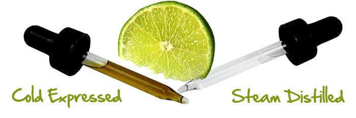 The difference between Cold Expressed and Steam Distilled essential oils.