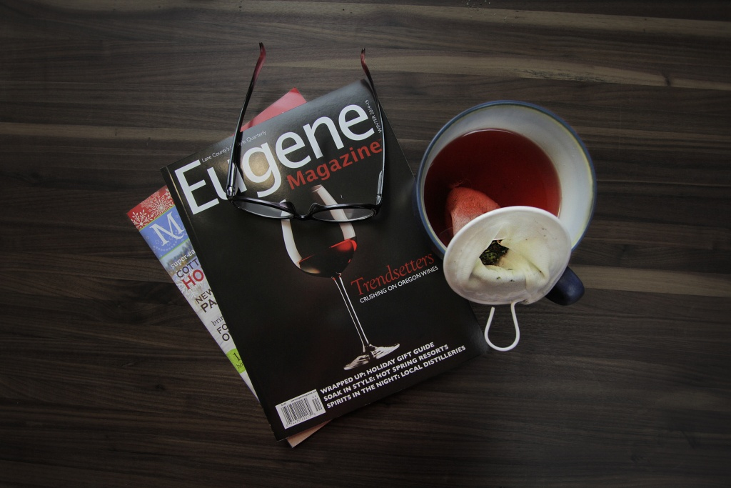 magazines and tea