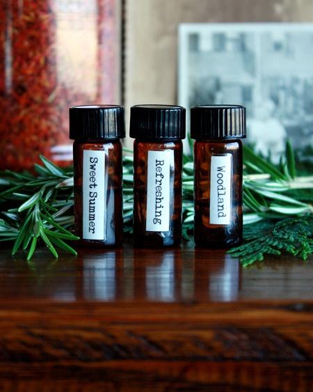 DIY woodland perfume