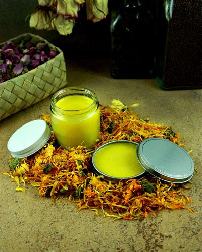 DIY Calendula, Lavender & Shea Butter Balm