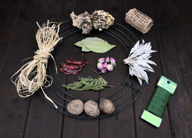 Make a DIY Herbal Kitchen Wreath