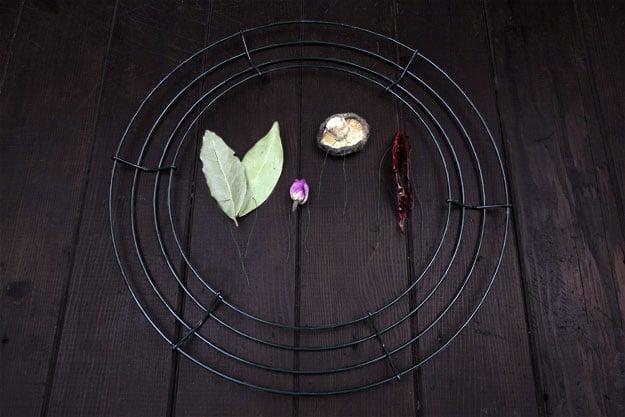 Make a DIY Herbal Kitchen Wreath