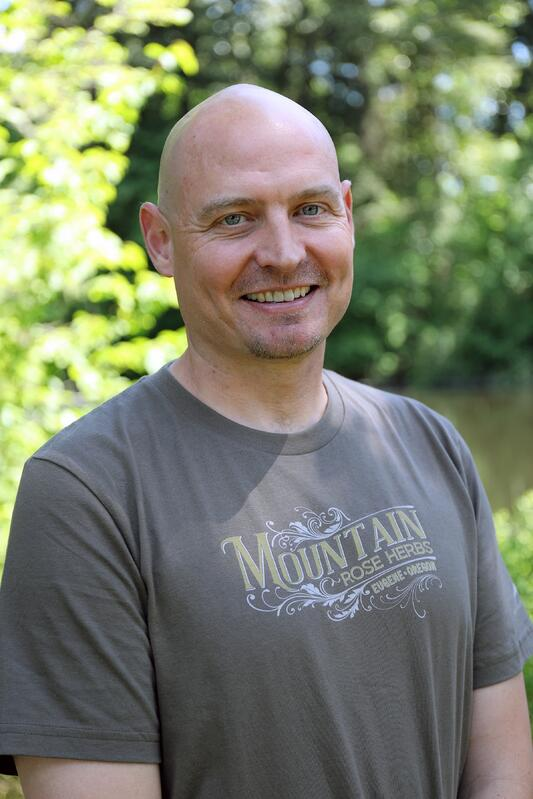 Jonathon Manton, new policy director at Mountain Rose Herbs