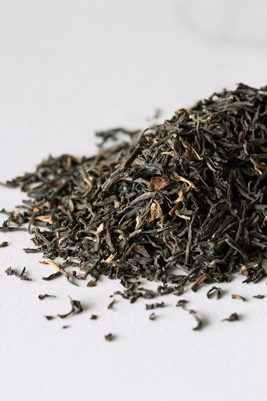 pile of organic loose-leaf black tea from North India