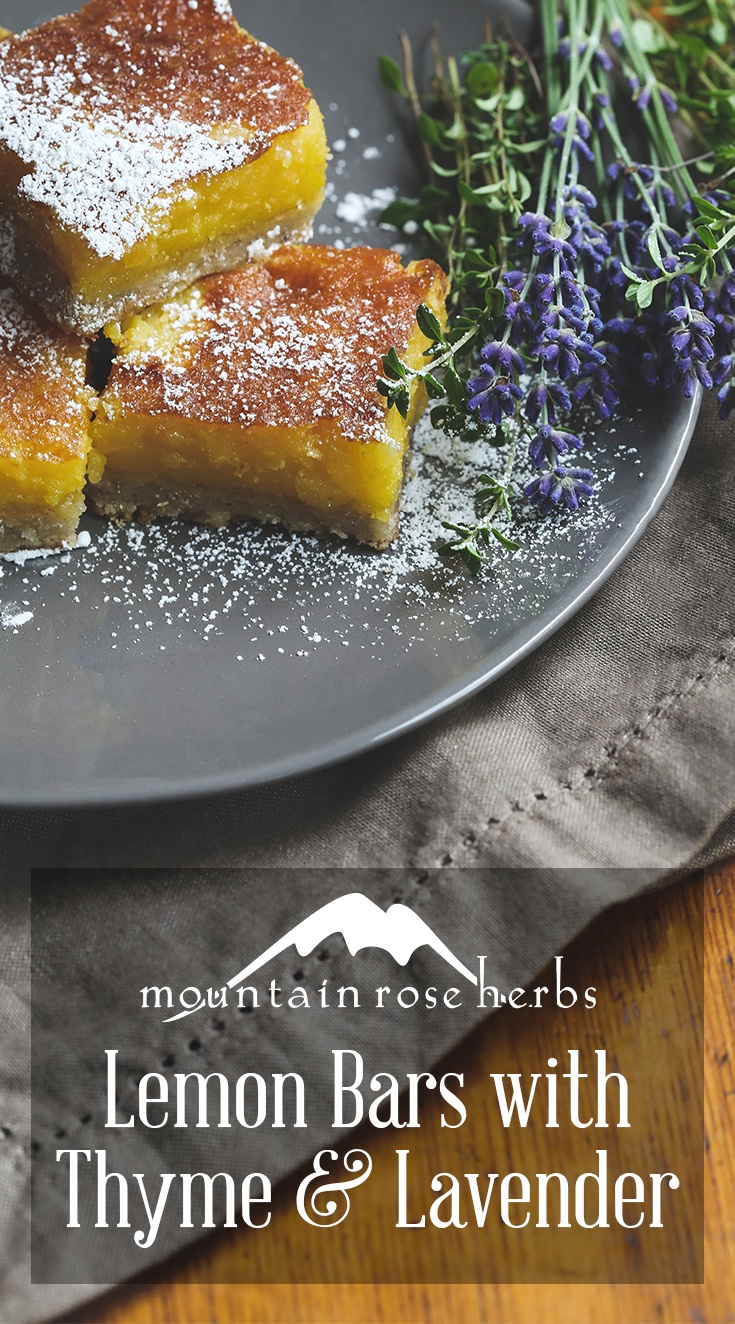 Lemon Lavender Thyme Bars Pin from Mountain Rose Herbs