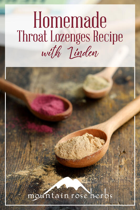 Pin to Homemade Throat Lozenges Recipe with Linden
