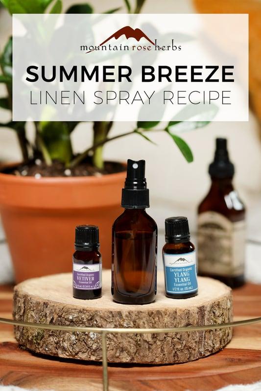 Summer Breeze Linen Spray Recipe pin from Mountain Rose Herbs