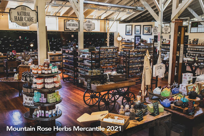Beautiful retail store with antiques and natural products.