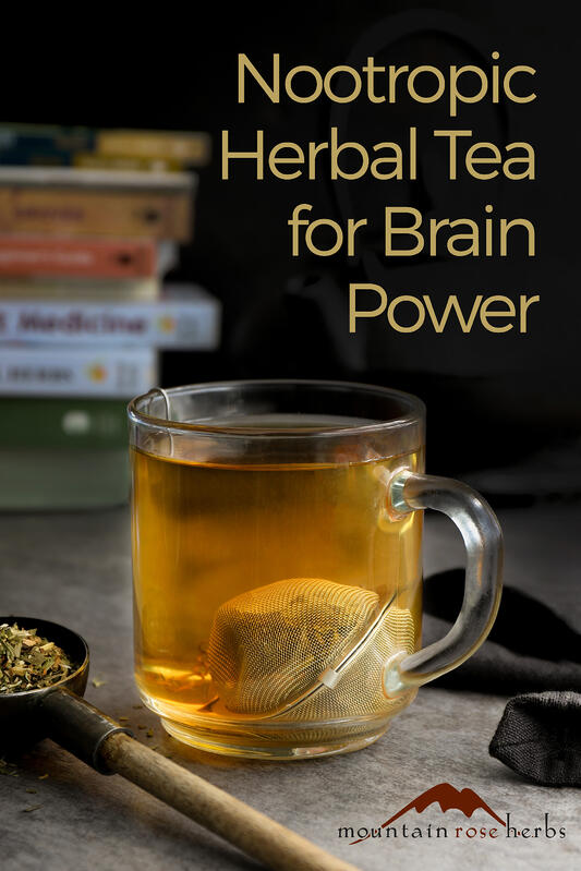 Ginkgo tea is often used for mental support as a nootropic herb. Helpful for brain functioning and memory support.