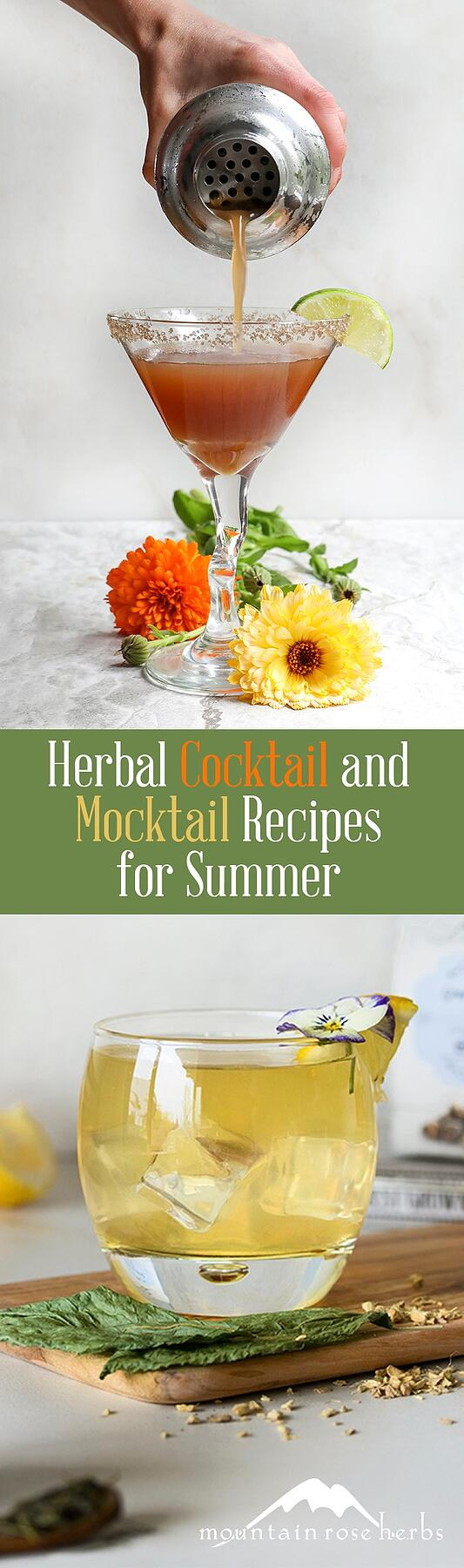 Herbal Cocktail and Mocktail Recipes for Summer
