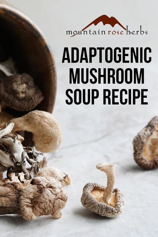 Adaptogenic Mushroom Soup Recipe Pin