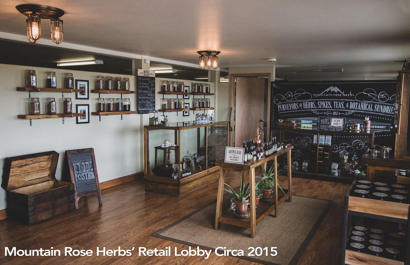 Mountain Rose Herbs Mercantile retail lobby circa 2015