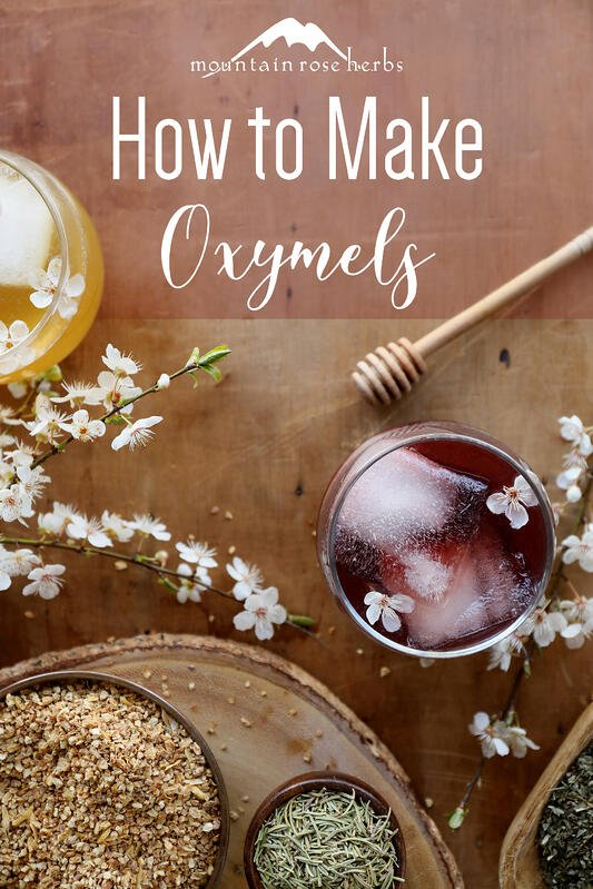 Herbs can be infused with vinegar and honey to create an herbal oxymel for wellness support.