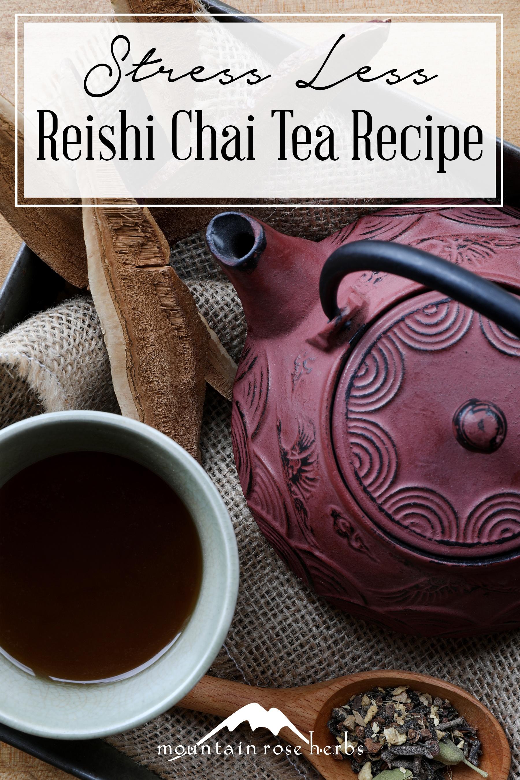 Pin for Reish Chai Immune Tea Recipe from Mountain Rose Herbs