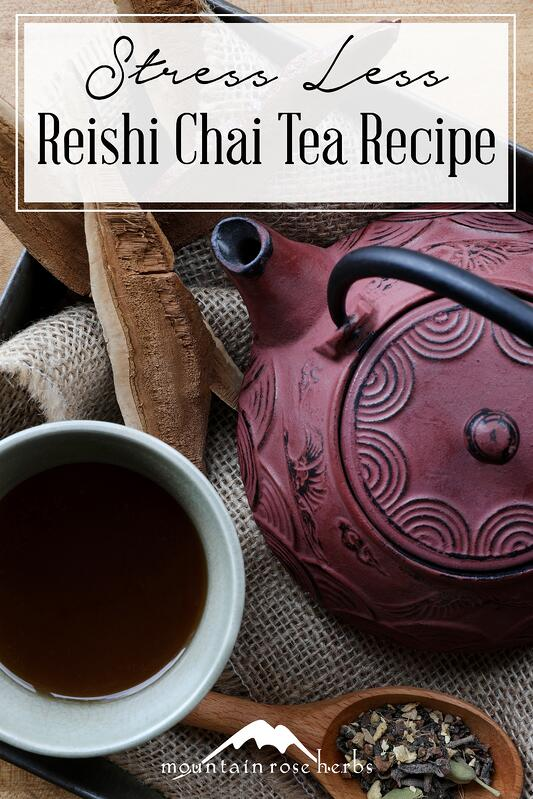 Pin for Reish Chai Immune Tea Recipe from Mountain Rose Herbs