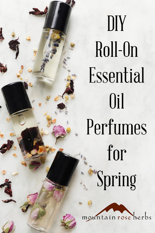DIY Roll-On Essential Oil Perfumes for Spring