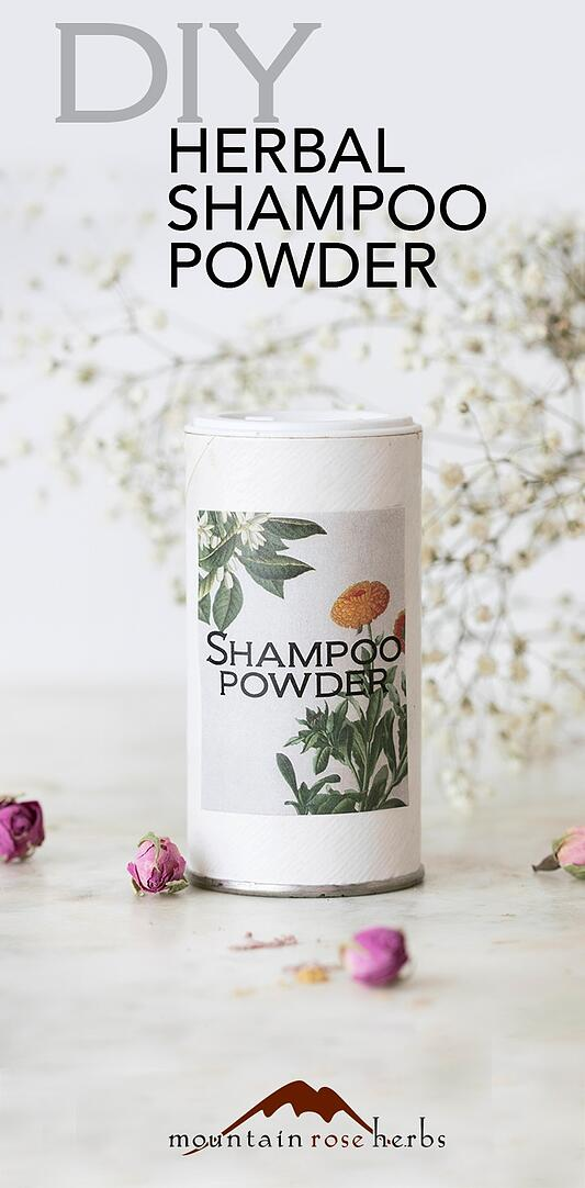 DIY Dry Shampoo Recipes Pinterest Pin from Mountain Rose Herbs