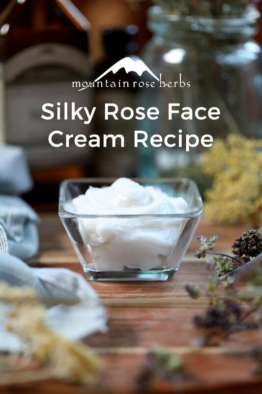 Silky Rose Face Cream Recipe Pin from Mountain Rose Herbs