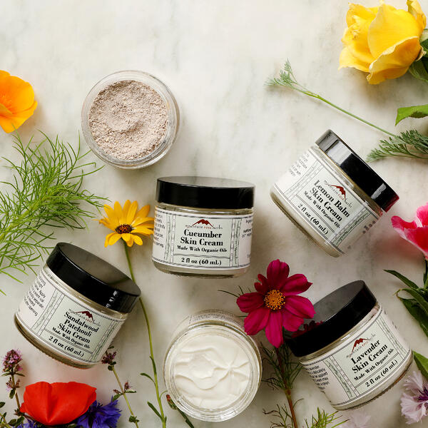 Organic moisturizer face and skin creams from Mountain Rose Herbs.