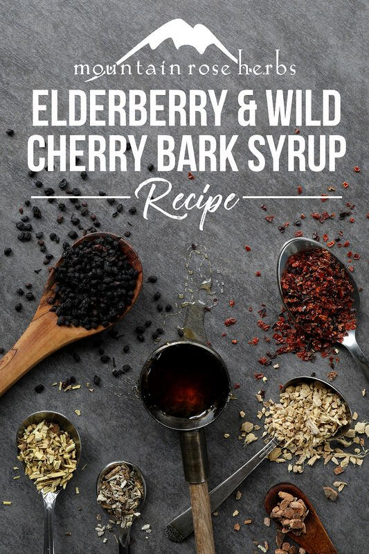 Pin to Elderberry and Wild Cherry Bark Syrup