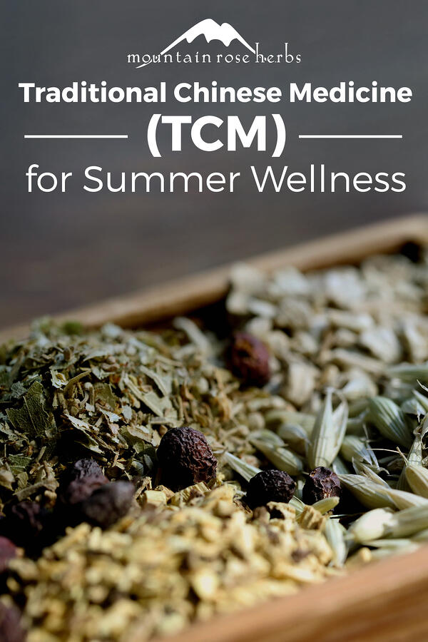 Traditional Chinese Medicine Pinterest pin for Mountain Rose Herbs.