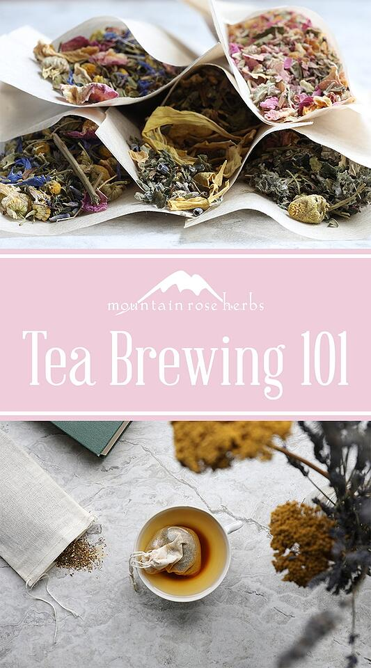 Guide to Tea Brewing by Mountain Rose Herbs