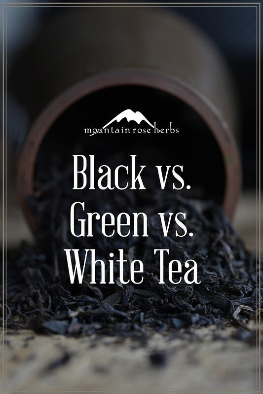 Pin Comparing Black, Green, and White Teas