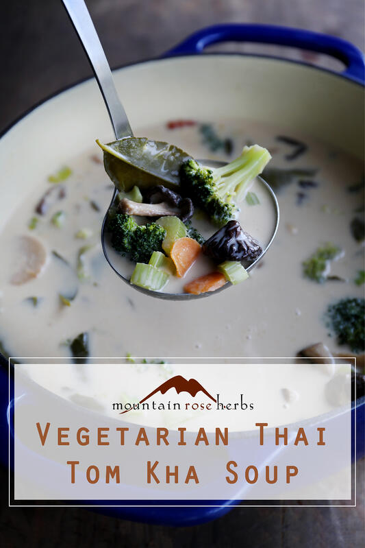 Pin to Vegetarian Thai Tom Kha Soup