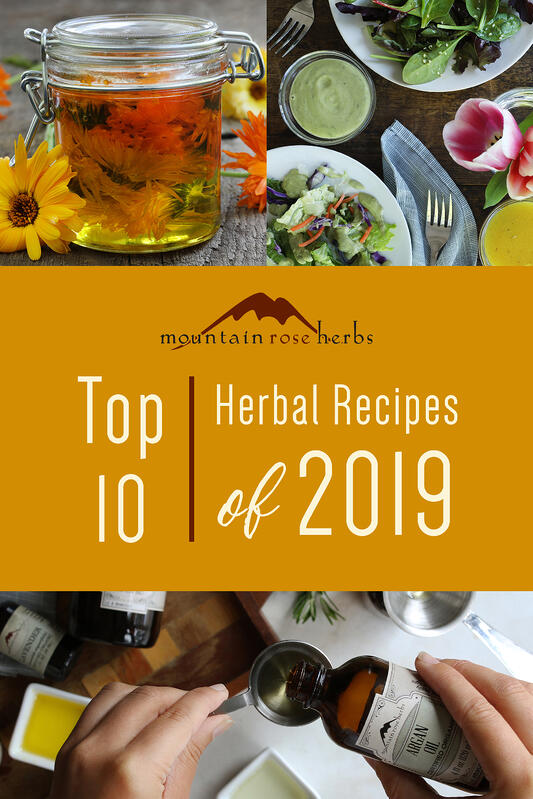 Top 10 herbal recipes and natural DIY projects of 2019.