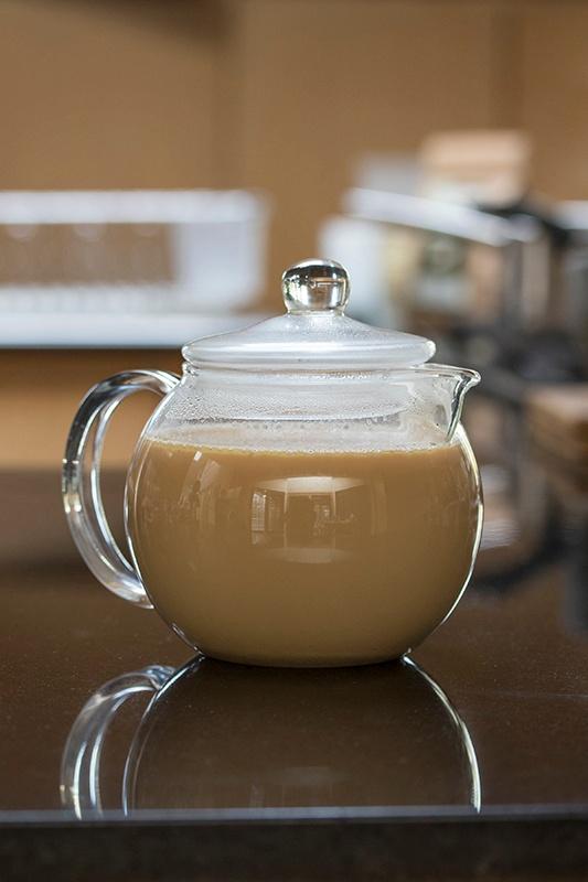 Chai Tea In Glass Tea Pot