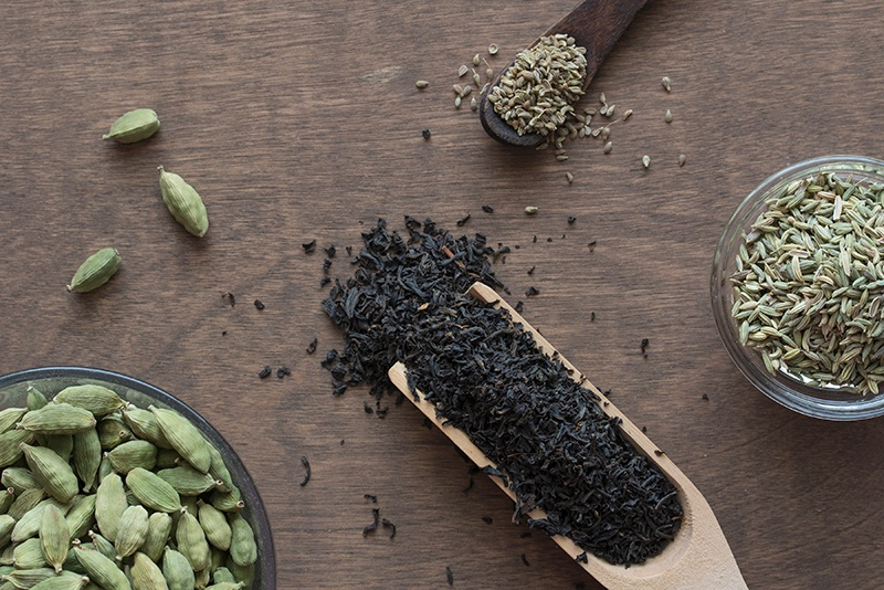 Traditional Chai Tea Ingredients