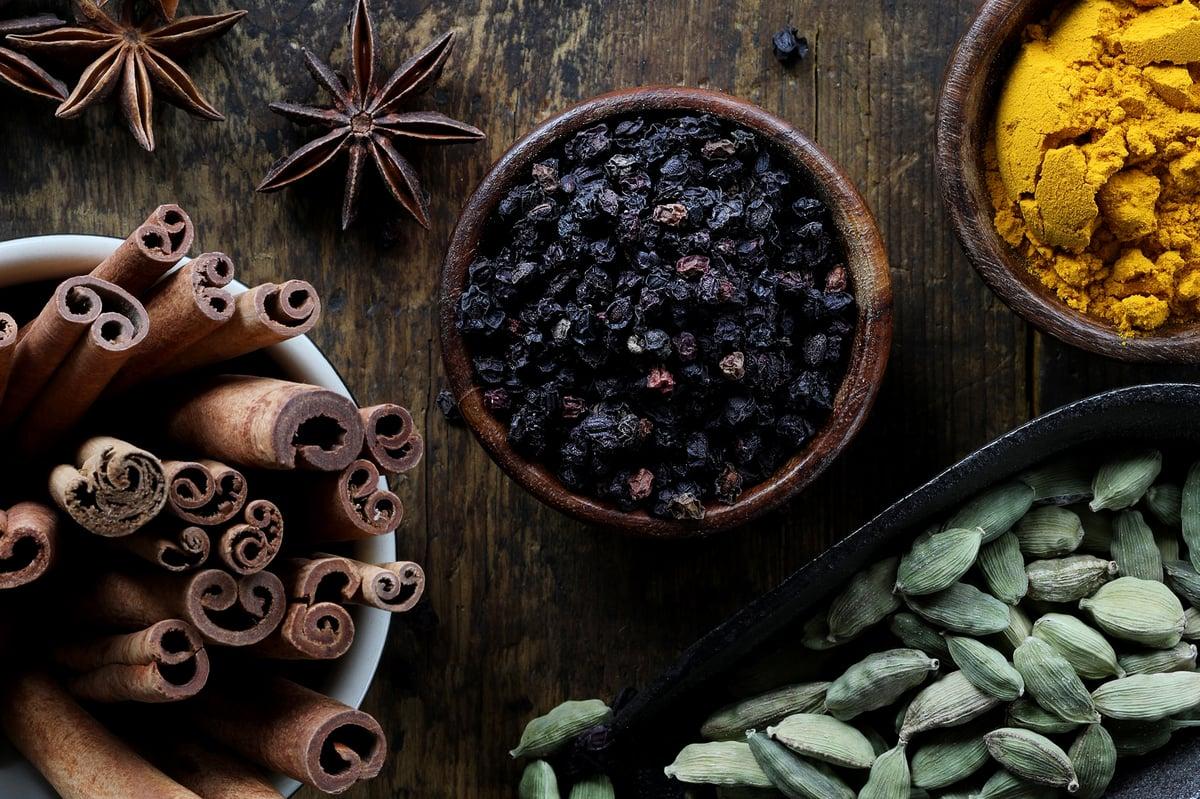 Organic ingredients for herbal remedies.