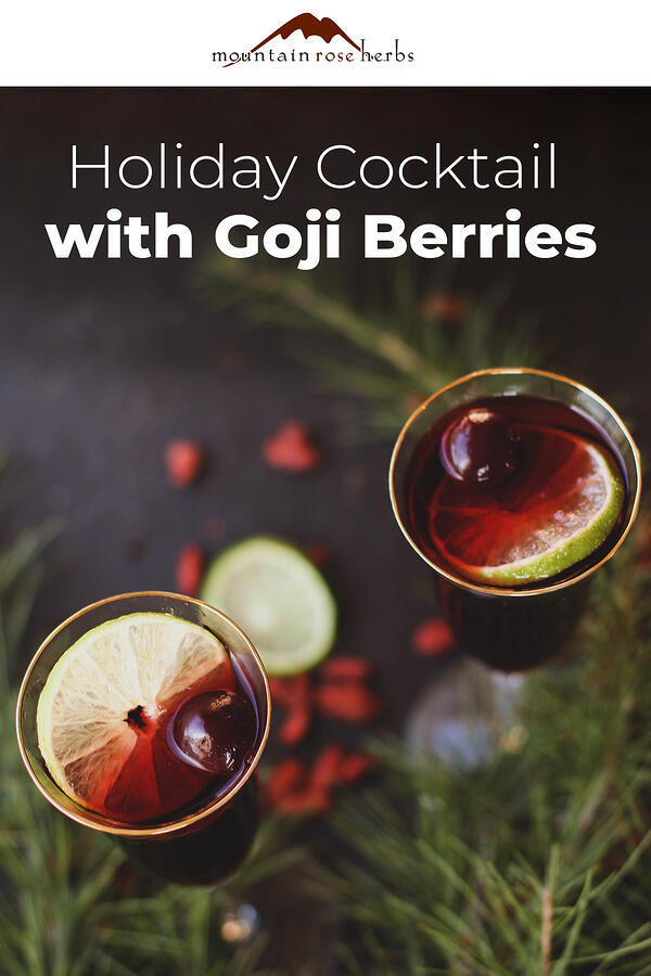 Holiday Cocktail with Goji Berries - Pinterest